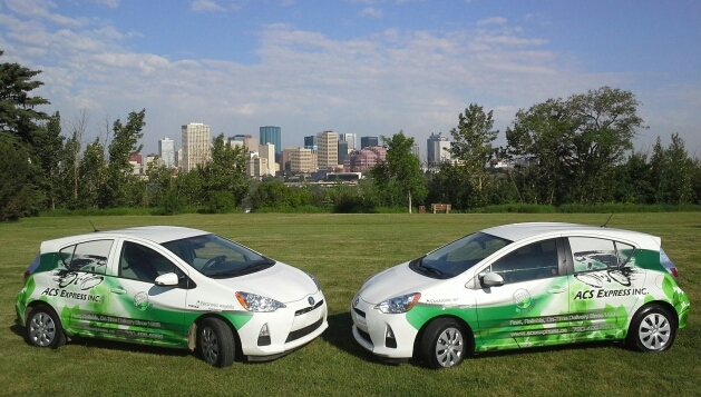 Edmonton courier service delivery vehicles